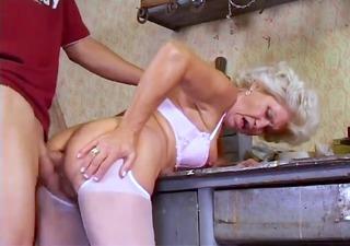 Granny Effie Bushy Butt Fuckin