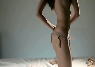 sweet sweetheart in nylon jerking off ding-dong