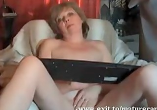 Granny Magret Fingering and orgasm at home