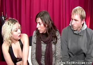 Wife pays blonde prostitute to suck