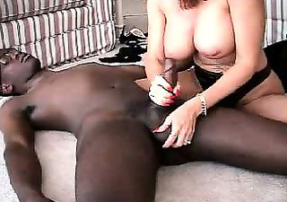 Lovely mature amateur housewife interracial