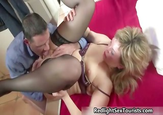 Thick milf prostitute gets her pussy