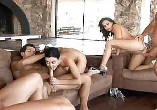Angelic busty wifes having great hardcore orgy